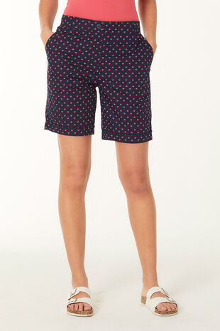 Geo Spot Essential Cotton Shorts