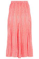 Printed Stripe Crinkle Maxi Skirt