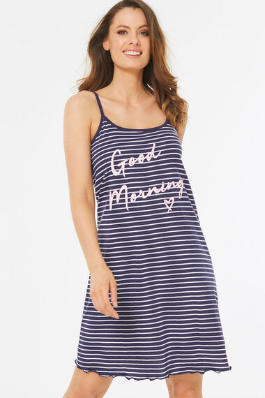 Good Morning Stripe Nightdress