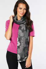 Black and Silver Lurex Scarf