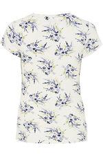 Sprig Print V Neck Short Sleeve Top