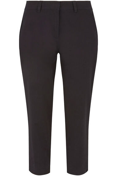Peached Twill Ankle Grazer Trousers