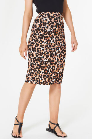 Animal Print Tube Skirt