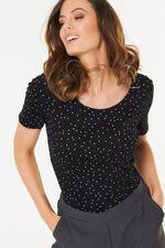Scoop Neck Polka Dot T-Shirt