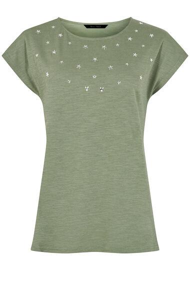 Scattered Star Embellished T-shirt