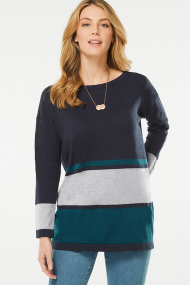 Colour Block Stripe Tunic