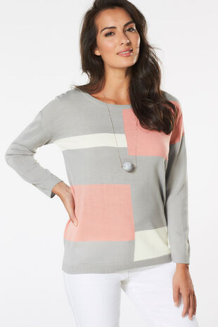Supersoft Colourblock Jumper