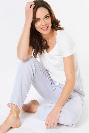 Woven Stripe Pyjama Set