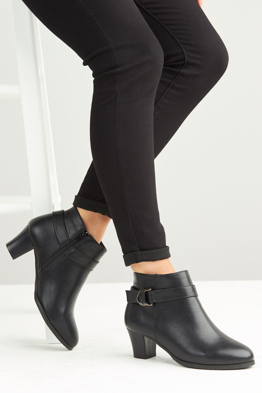 Cushion Walk Heeled Ankle Boot