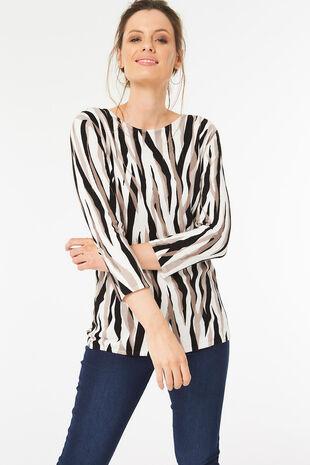Abstract Zebra Print Tunic
