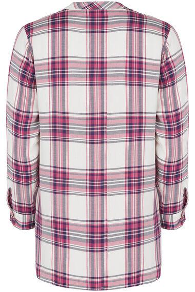 Pink and Navy Check Shirt