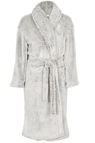 Fluffy Shawl Collar Robe