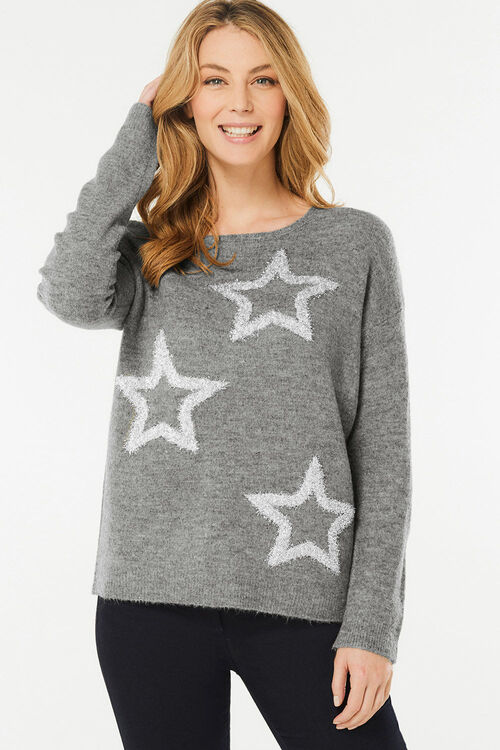 Tinsel Star Christmas Jumper