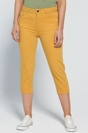 Nine To Six Straight Leg Cropped Jeans