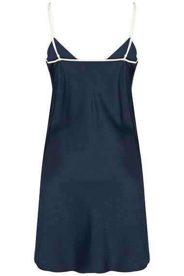 Navy Spot Jacquard Nightdress