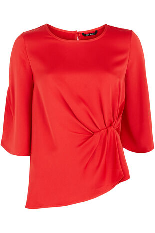 Knot Detail Top with Split Sleeves