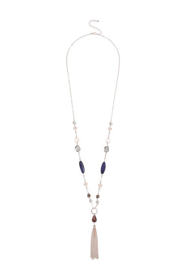 Muse Beaded Tassel Lariat