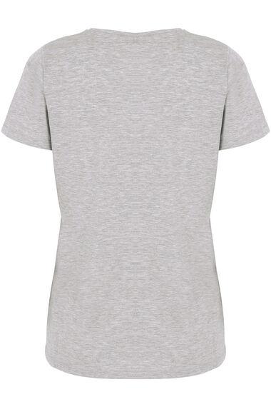 Flamingo Placement Print T-Shirt