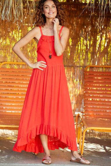 Isla & Rose Dip Hem Frill Dress