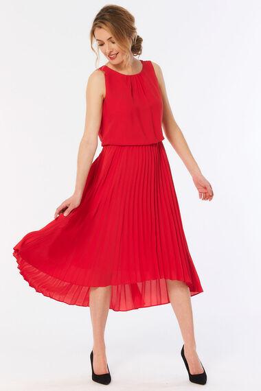 Sleeveless Pleated Skirt Dress