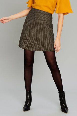 Salvari Fitted Mini Skirt
