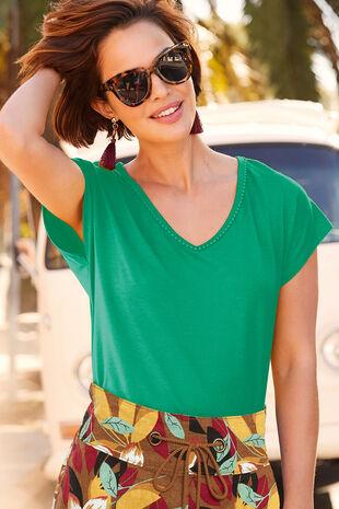 Pom Pom Trim T-Shirt