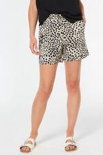 Cheetah Print Brushed Cotton Short