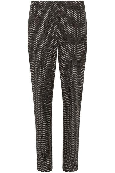 Textured Spot Ponte Trouser