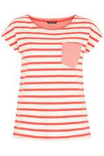 Stripe Pocket Linen Blend T-Shirt