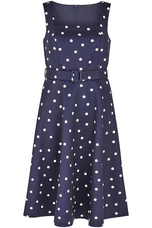 Spot Print Sleeveless Prom Dress