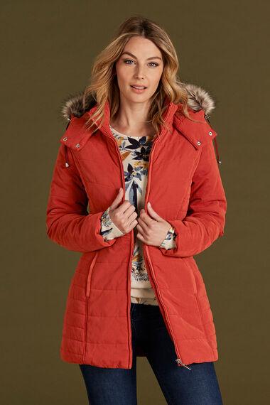 Fur Trim Padded Coat
