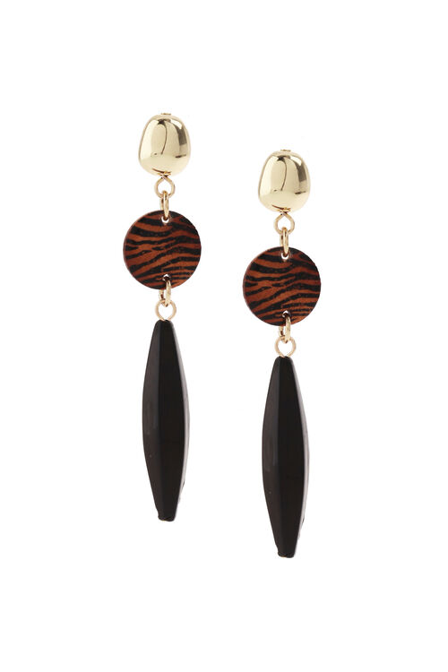 Muse Wood Mix Bead Drop Earring