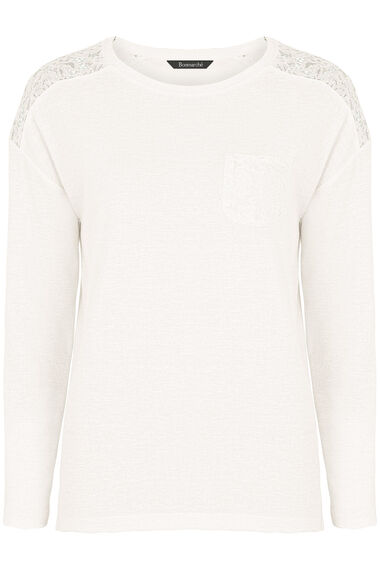 Lace Textured Sweat Top