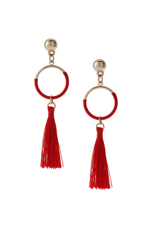 Muse Red Tassel Earring