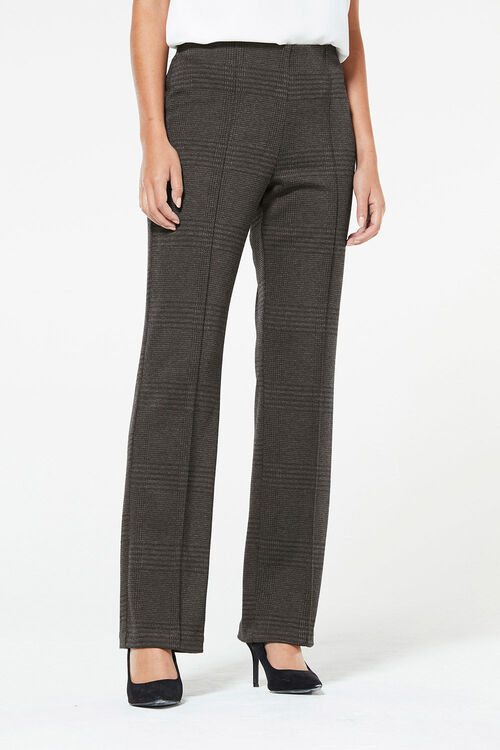 Brushed Check Ponte Trouser