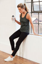 NVC Activewear Sleeveless Animal Print Sports Top