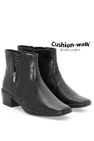 Cushion Walk Smart Ankle Boot with Stud Detail