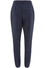 Spot Print Belted Trouser