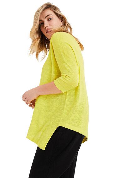 Studio 8 Amelie Asymmetric Linen Blend Knit Top