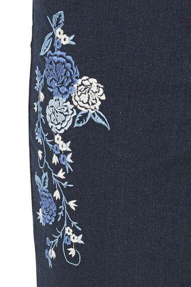 The BETTY Embroidered Denim Crop