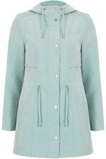 Zip Up Coat With Hood