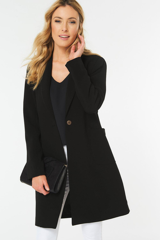 Ladies Womens Leopard Animal Print Long Line Button Blazer Jacket Fashion Coat