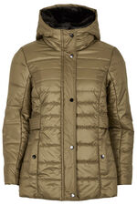 Padded Jacket with Faux Fur Collar
