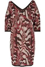 Join Us Animal Pattern Cold Shoulder Dress