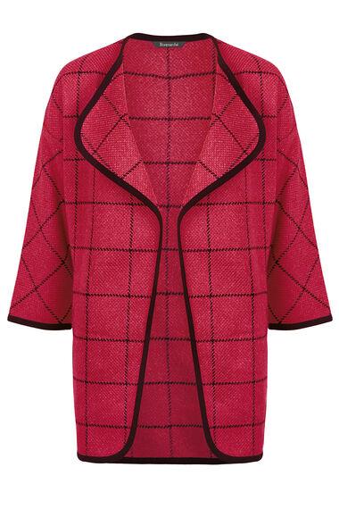 Checked Blanket Coat