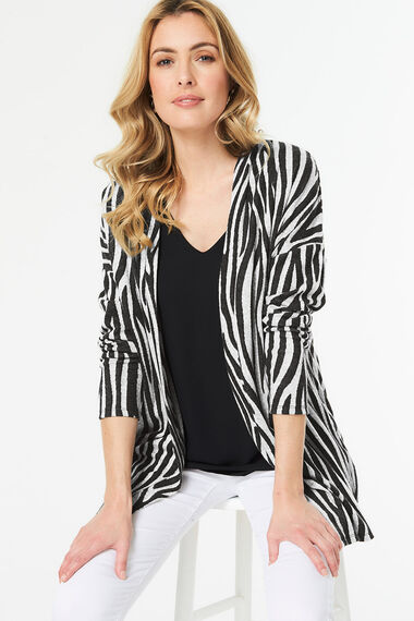 Zebra Print Soft Touch Cover Up