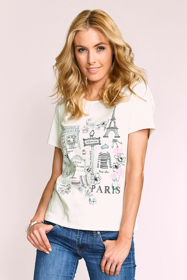 Paris Placement Print T-Shirt