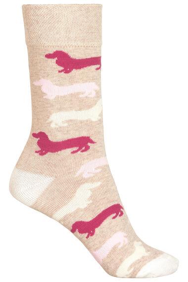 3 Pack Dog Printed Socks