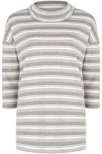 Stripe Cowl Neck Sweat