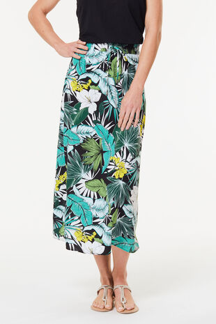 Banana Leaf Toggle Maxi Skirt
